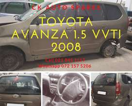 Toyota Avanza 1.5 vvti 2008 stripping for spares