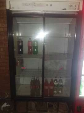 Two door display fridge