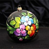 Ялинковові кулі з художнім розписом (роспись елочных шаров)