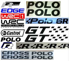 VW Polo graphics decals / vinyl cut stickers