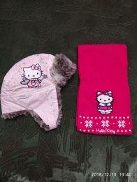 Шапка+шарф с Китти