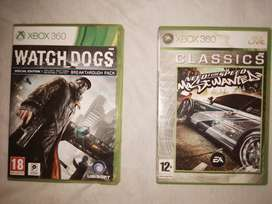 Need for speed most wanted and watch dogs. Xbox 360