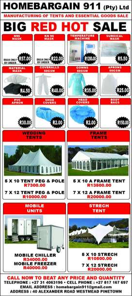 TENTS AND ESSENTIAL GOODS