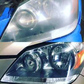 Head and tail lights restoration