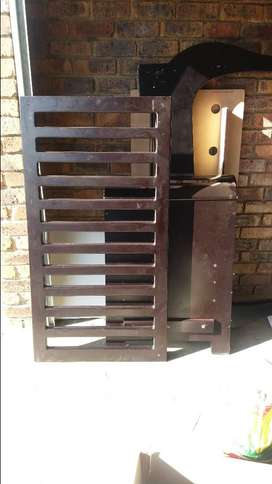 Antique Mahogany baby cot for sale