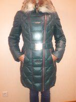 Теплое зимнее пальто-пуховик Ayaka.Размер 46L.Натуральный мех.
