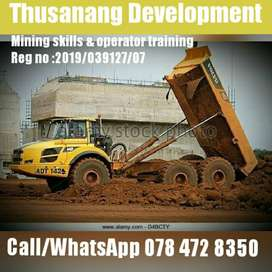 Dump truck operator training course for 10 days free accommodation.