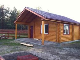 Продам дом(дачу) под Киевом (новую) из бревна с участком