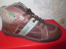 Ботинки KicKers р. 34 утепленные, новые, оригинал