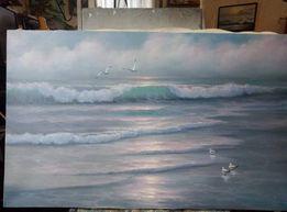 "Картина ""Море, чайки"". Холст, масло."