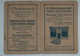 Stary Kupon-Bilet / Kolektura Loterji Państwowej 1917R. / Unikat