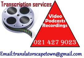 Transcription services Capetown.