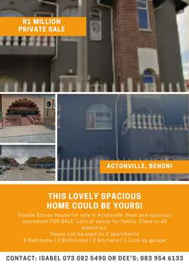 Double Storey House for sale in Actonville