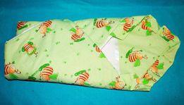 Конверт - одеяло для выписки салатовый с пчелками