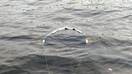 Рыбалка, лодка, якорь плавучий