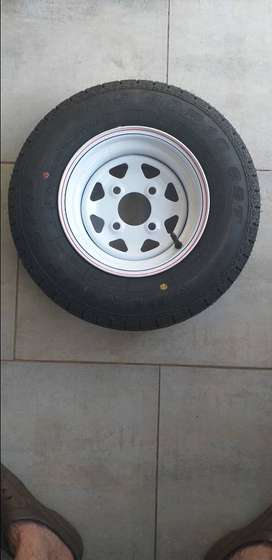 "10"" trailer wheel, rim and tyre. Brand new."