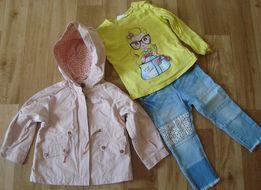 Zara płaszczyk + jeansy 92