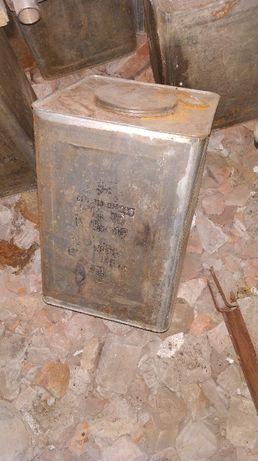Канистра металлическая из под масла 16.5 литров, СССР. Харьков - изображение 4