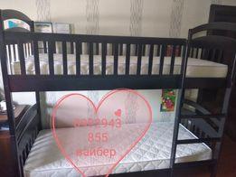 Двухъярусная детская кровать Карина New массив дерева