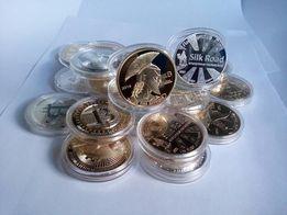 Сувенирная, коллекционная монета BITCOIN ( Биткоин ).
