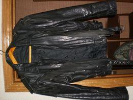 Куртка байкерская кожаная