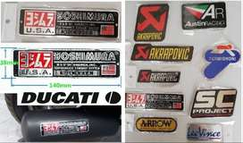 Ducati Yoshimura aluminium heat proof exhaust silencer badge decal