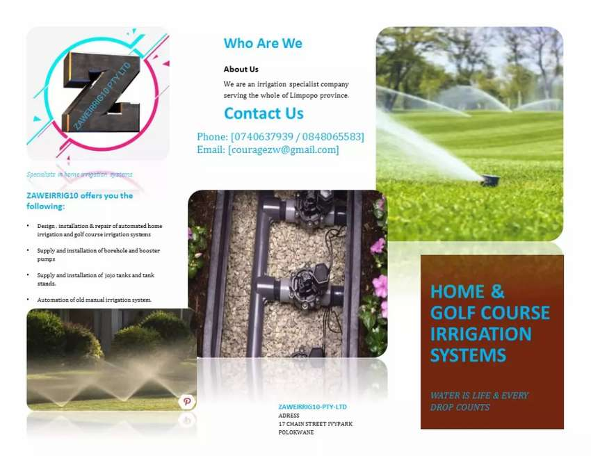 Home & golf course irrigation systems 0