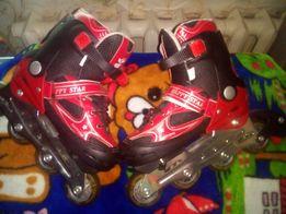 Детские ролики раздвижные импортные, размер 34-38. Прекрасный подарок!