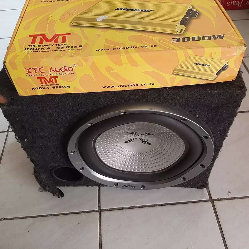 subwoofer and amp for sale 0
