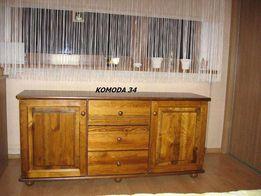 Komoda drewniana 34 sosnowa 155x73x41