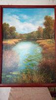 Картина Осенняя река