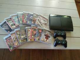 PS3 console, remotes and games