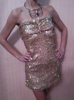 Шикарное блестящее мини платье , туника , всё в паетках на Новый Год