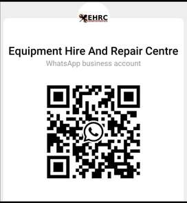 Equipment hire and Repair center