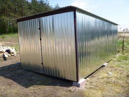 GARAŻ blaszany Schowek budowlany BLASZAK na budowę Garaże BUDOWA