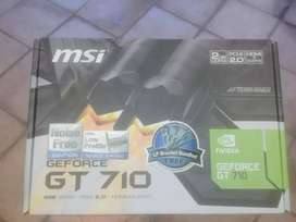 MSI Nvidia geforce gt 710 2g ddr3 barely used