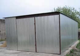 Końskie Garaż Blaszany 4x5 Ocynk Garaże Blaszane Blaszaki Wiaty Raty