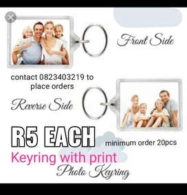Keyrings with print