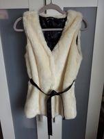 Raz zalozona kamizelka sztuczne futerko H&M rozmiar M z paskiem