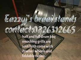 Braai stands ranging from R900 to R1500 for smocker bbq grills.