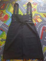 Sukienka na szelki czarna jak nowa rozmiar 34 xs