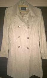 Płaszcz, 38, kremowy, beżowy