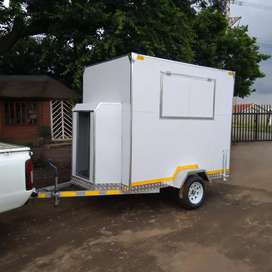 Mobile VIP toilets, food trailers and fridge