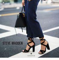 Steve Madden christey sandały wiązane sznurowane słupek zamsz skóra 40