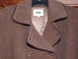 Płaszcz Twin roz 44, używany -stan bdb+, wełna 80%