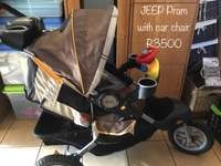 Jeep pram with car seat for sale  South Africa