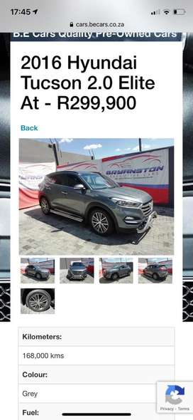 2016 Hyundai Tucson 2.0 Elite At - R299,900