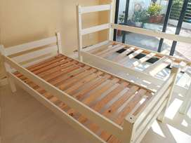 Double Bunk Single Beds including mattresses