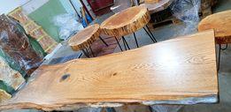 Стол из натурального дерева Слэба 300 летнего канадского дуба. LOFT