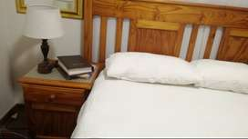 Pine headboard and sides
